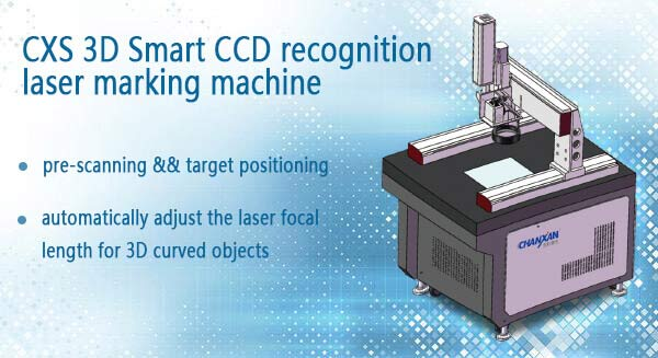 Auto Focus Enclosed 20W 30W 50W 100W Fiber Laser Marking Machine with CCD Cyclops Camera Position System